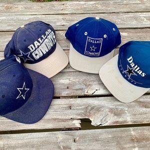 Dallas Cowboys Lot of 4 Caps Hats